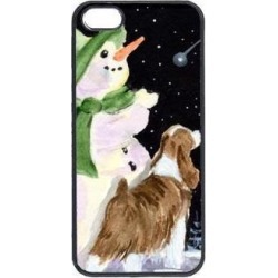 Snowman with English Springer Spaniel Cell Phone Cover IPHONE 5