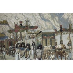 Posterazzi SAL99973 Jacobs Body is Taken to Egypt James J Tissot 1836-1902 French Watercolor on Paper Jewish Museum New York - 18 x 24 in.