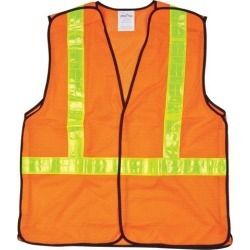 Zenith Safety Products CSA Compliant 5-Point Tear-Away Traffic Safety Vest, Hi-Visibility Orange, X-Large found on Bargain Bro India from Newegg Canada for $21.89