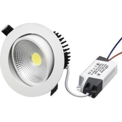 Unique Bargains 10W Recessed LED Downlight LED Ceiling Light IC Rated 6000-6500K(Pure White)