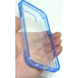 PureGear Slim Shell Pro Case for Samsung S7 - Clear/Blue