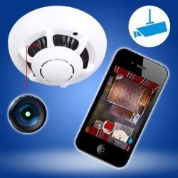 P2P Smoke Detector WiFi HD SPY Hidden Camera Wireless IP Camera Nanny Video Recorder