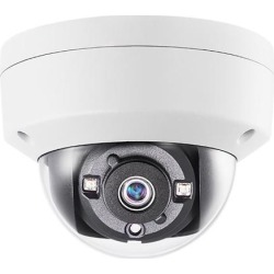 Monoprice 5MP HD-TVI Dome Security Camera 2560x1944@20fps Vandal Proof - White With 2.8mm Fixed Lens, Night to Day Color Vision and IP67 Waterproof