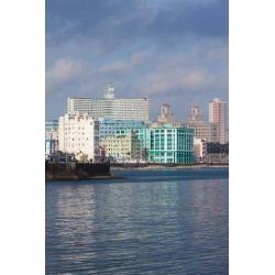 Cuba Havana Vedado Buildings along the Malecon Poster Print by Walter Bibikow (25 x 37)