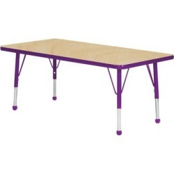 Mahar Manufacturing M3060PR-SN Rectangle Activity Table with Maple Top and Purple Edge, 30 x 60 in. found on Bargain Bro India from Newegg Canada for $192.88