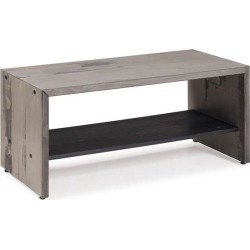 42' Solid Rustic Reclaimed Pine Wood Entry Bench - Gray