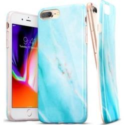 iPhone 8 Plus Case, iPhone 7 Plus Case, ESR Soft TPU [Marble Pattern] Shell Skin [Anti-Scratch] Ultra Thin [Slim Fit] Cover for Apple iPhone 8 Plus/7