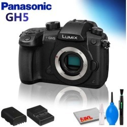Panasonic Lumix DC-GH5 Mirrorless Micro Four Thirds Digital Camera (Body Only) with Cleaning Kit