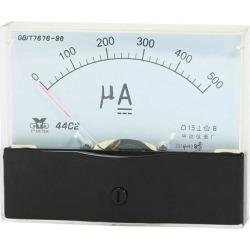 Unique Bargains Analog Panel Ammeter Gauge DC 0 - 500uA Measuring Range 1.5 Accuracy 44C2