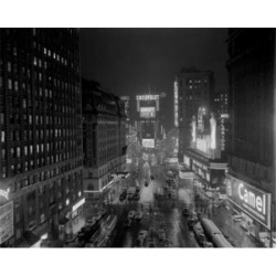 Posterazzi SAL255422527 USA New York City Manhattan View of Times Square at Night Poster Print - 18 x 24 in.