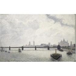 Posterazzi SAL900120372 Charing Cross Bridge London Alfred Sisley 1839-1899 French Poster Print - 18 x 24 in.
