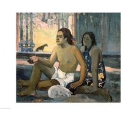 Posterazzi BALXIR47617LARGE Eiaha Ohipa 1896 Poster Print by Paul Gauguin - 36 x 24 in. - Large
