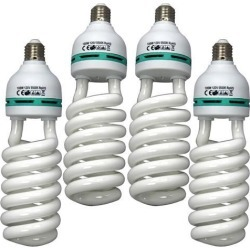 4x Four 105W CFL Compact Fluorescent Photography Light Bulb 5500K Cool Daylight