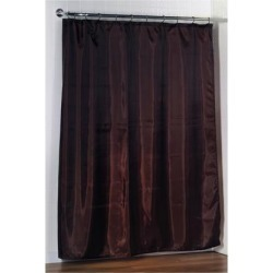 Carnation Home Fashions Standard-Sized Polyester Fabric Shower Curtain Liner in Brown