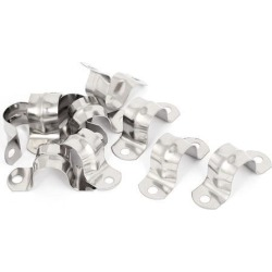 10pcs 2-Hole Rigid Conduit Pipe Straps Clips Clamps for 20mm Dia Tube
