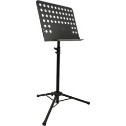 Monoprice Heavy-Duty Sheet Music Stand With Height Adjustable Base Between 26 -46in Above The Floor