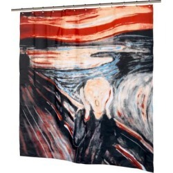 Carnation Home Fashions FSC13-SM 72 x 72 in. The Scream Fabric Shower Curtain, Multi Color