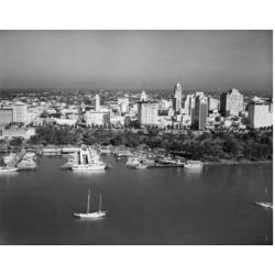 Posterazzi SAL2558650 USA Florida Miami Boats Docked in Harbor Poster Print - 18 x 24 in.