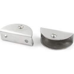 Unique Bargains 12mm-15mm Thickness Adjustable Half Round Shape Glass Clip Bracket 2pcs found on Bargain Bro Philippines from Newegg Canada for $9.41