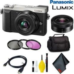 Panasonic Lumix DMC-GX85 Mirrorless Micro Four Thirds Digital Camera with 12-32mm Lens (Silver) Basic Bundle