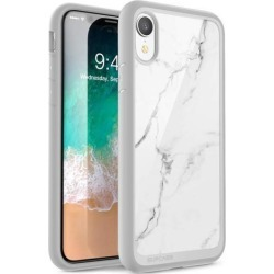 iPhone XR case, SUPCASE [Unicorn Beetle Style Series] Premium Hybrid Protective Clear Case for Apple iPhone XR 6.1 inch 2018 Release (Marble)