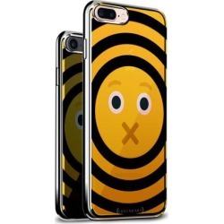 LUXENDARY EMOJI WITH MOUTH CLOSED DESIGN CHROME SERIES CASE FOR IPHONE 6/6S PLUS