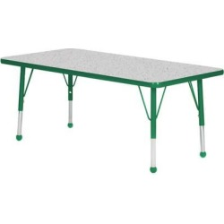 Mahar Manufacturing N3048DG-SB Rectangle Activity Table with Grey Nebula Top and Dustin Green Edge, 30 x 48 in. found on Bargain Bro India from Newegg Canada for $353.68