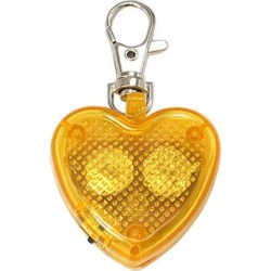 Unique Bargains Flash Light Heater LED Lobster Clasp Key Chain Yellow