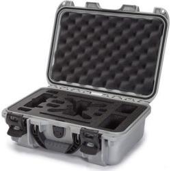 Nanuk 915 Waterproof Hard Drone Case with Custom Foam Insert for DJI Spark Flymore - Silver