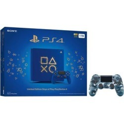 Playstation 4 Slim 1TB Days of Play Blue Limited Edition Gaming Console Bundle With an Extra Blue Camouflage DualShock 4 Wireless Controller