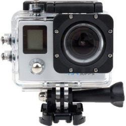 Dual Screen Ultra HD 4K Sports Action Camera 1080P Waterproof Underwater Camcorder 170° Wide Angle 12MP WiFi Slim Helmet Cam DVR Recorder (Silver)