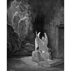 Posterazzi SAL99587163 The Angel Seated Upon the Stone by Gustave Dore 1832-1883 Poster Print - 18 x 24 in.
