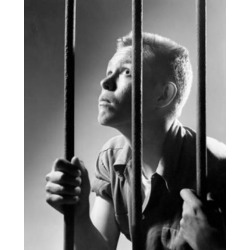 Posterazzi SAL2557188 Male Prisoner Holding Prison Bars in a Prison Cell Poster Print - 18 x 24 in.