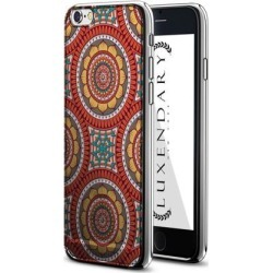 LUXENDARY RED, GREEN & YELLOW BOHO STYLE PATTERN DESIGN CHROME SERIES CASE FOR IPHONE 6/6S