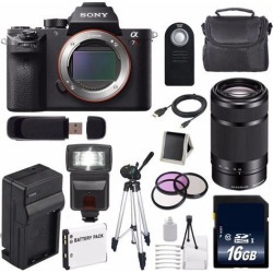 Sony Alpha a7R II Mirrorless Digital Camera (International Model ) + Sony E 55-210mm f/4.5-6.3 OSS E-Mount Lens (Black) + 49mm 3 Piece Filter Kit.