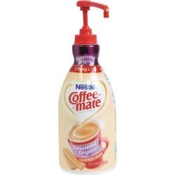 Coffee-mate 13799 Liquid Coffee Creamer, Pump Dispenser, Sweetened Original, 1.5 Liter