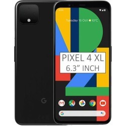 Google Pixel 4 XL G020P 64GB 6.3 inch Android (GSM Only, No CDMA) Factory Unlocked 4G/LTE Smartphone - Just Black