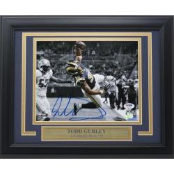 Todd Gurley Signed Framed Los Angeles Rams 8x10 Spotlight Photo PSA/DNA
