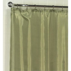 Carnation Home Fashions Standard-Sized Polyester Fabric Shower Curtain Liner in Sage