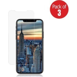 Case Friendly 2.5D Curved Anti Shatter Scratch and Impact Resistant Tempered Glass Screen Protector Pack of 3 for iPhone X