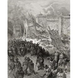 Posterazzi DPI1859760 Second Assault of Jerusalem The Crusaders Repulsed During The First Crusade Poster Print, 13 x 17