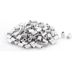 100pcs Oval Aluminum Sleeves Clamps for 0.8mm Wire Rope Swage Clip