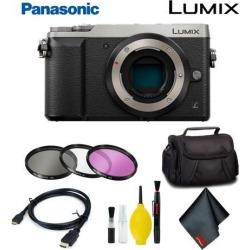 Panasonic Lumix DMC-GX85 Mirrorless Micro Four Thirds Digital Camera (Body Only) (Silver) Basic Bundle