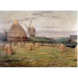 Posterazzi SAL900131688 The Windmill by Karl Cartier 1855-1925 Poster Print - 18 x 24 in.