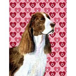 Carolines Treasures SS4513GF 11 x 15 In. Springer Spaniel Hearts Love Valentines Day Flag, Garden Size
