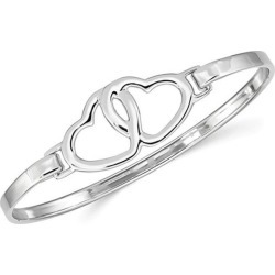 Sterling Silver Polished Heart Bangle Bracelet found on Bargain Bro India from Newegg Canada for $94.33