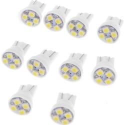 Unique Bargains 10 x Car Auto T10 White 4-SMD 1210 158 168 194 LED Light Bulb Lamp DC 12V