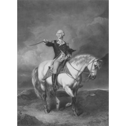 American Revolutionary War print of General George Washington on horseback Poster Print (24 x 32)