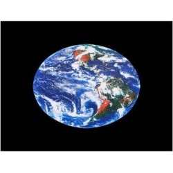 Unique Bargains Earth Print Sticker Protective Skin Decal Black Blue for 15.6' 14' 12' Notebook found on Bargain Bro Philippines from Newegg Business for $6.05