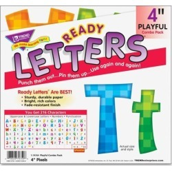 Trend 4' Playful Ready Letters Combo Pack